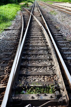 Separated Railway Track photo