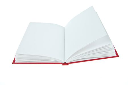 Blank opened book photo