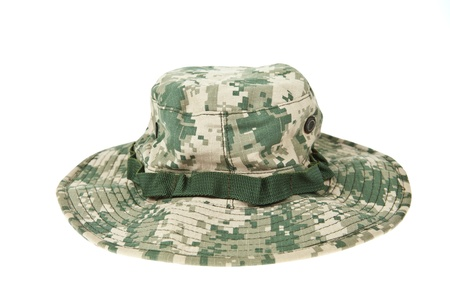 acu: Military camouflage hat ACU Stock Photo