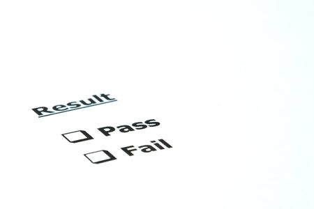 Result Pass or Fail Stock Photo - 11009822