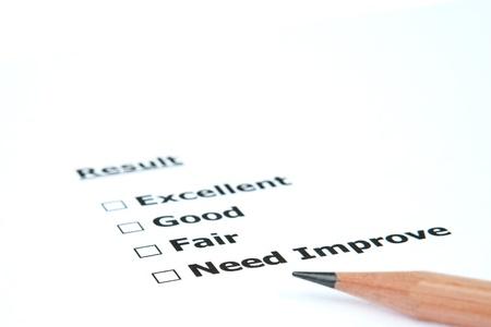 Performance result Need Improve Stock Photo - 11009823