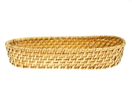 box size: Wicker basket isolated on white background