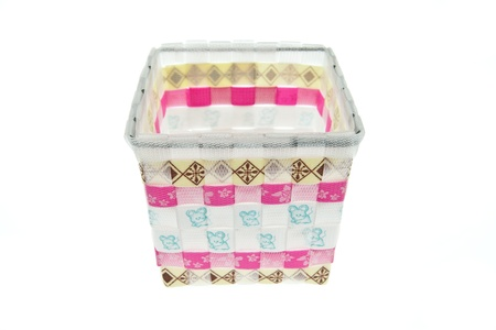 Colorful plastic basket photo