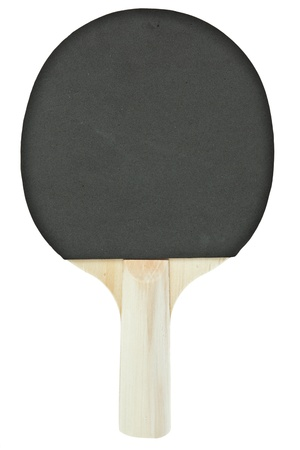 Table tennis racket isolated on white background photo