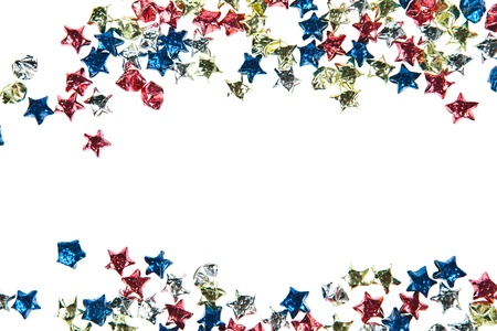 Colorful paper stars background photo