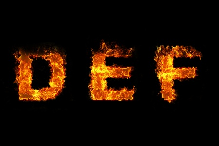 Fire on letter DEF photo