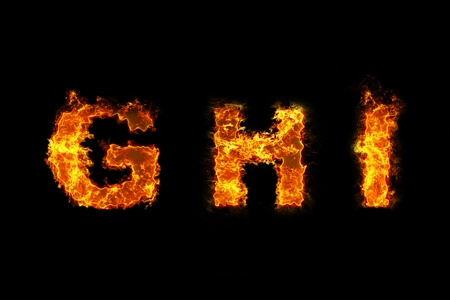 Fire on letter GHI photo