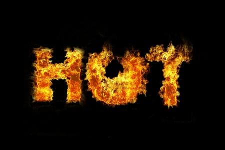 火とホット テキスト