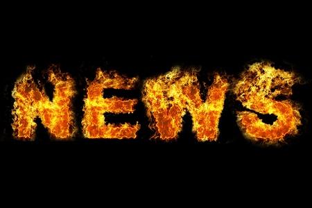Fire news text Stock Photo - 11779566