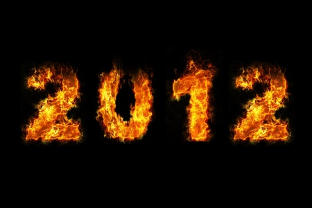 New Year 2012 with fire Stock Photo - 11779560