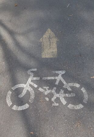 Bicycle sign, Bicycle Lane Stock Photo - 11881534