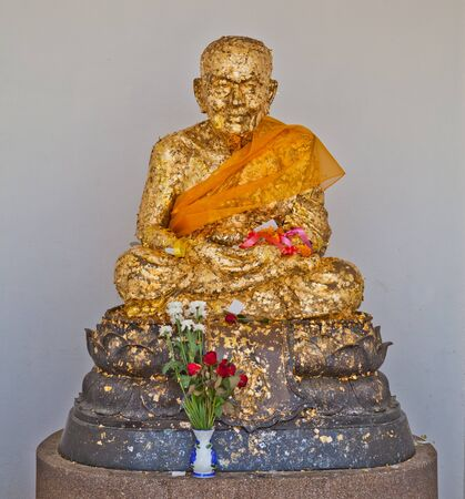Monk statue, Luang Pu Thuad, Thailand photo