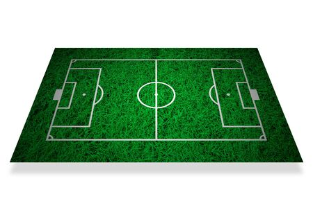 Soccer field layout on green grass background Stock Photo - 11996687