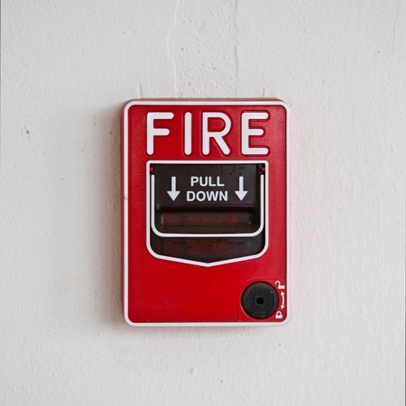 emergency call: Fire alarm pull box
