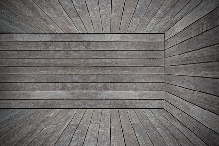 Grunge old wood texture room background photo