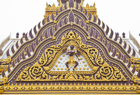 ornately: Detail of ornately decorated temple roof