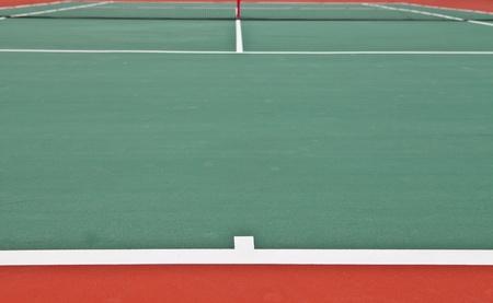 Tennis court at base line photo