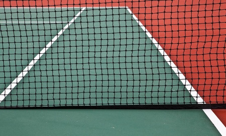 Tennis Court with net photo