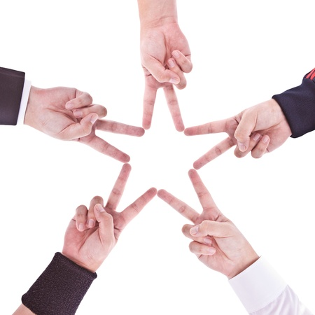 formative: Hands in the form of a star