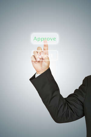 Business man select approve Stock Photo - 13986214