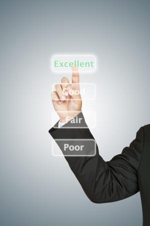 ビジネスマンの優秀な押しボタン