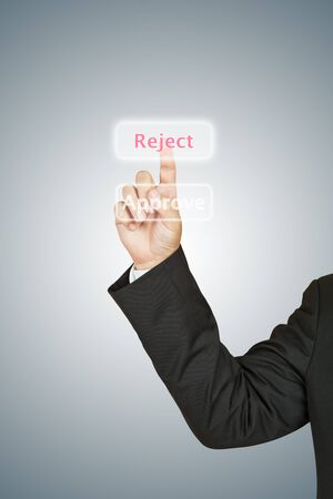 reject: Business man select reject