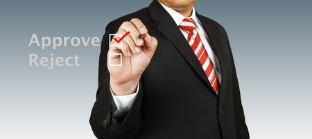 Business man select approve Stock Photo - 13986134