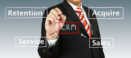 Businessman with CRM Concept Stock Photo - 13991510