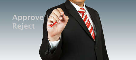 Business man select reject Stock Photo - 13986133