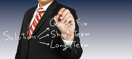 Businessman drawing for solution Stock Photo - 14158264