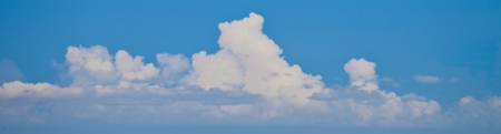Panorama sky and cloud
