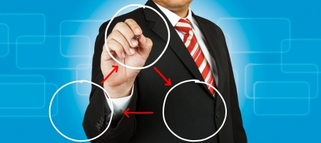 Businessman drawing circle diagram Stock Photo - 14854492
