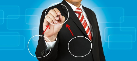 Businessman hand drawing Green Energy Stock Photo - 14854495