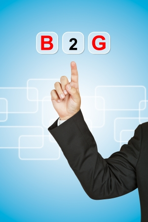 Businessman with word B2G Stock Photo - 14989838