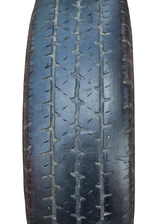 Used car tire closeup photo