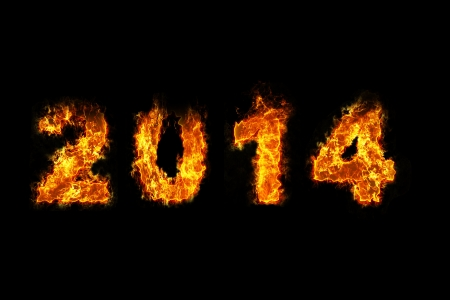 Year 2014 on fire photo