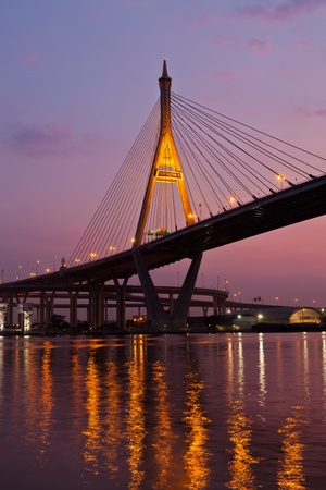 Bridge industry. Bangkok at night. photo