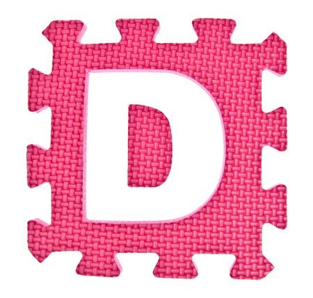 Alphabet toy piece isolated on white background Stock Photo - 16854497