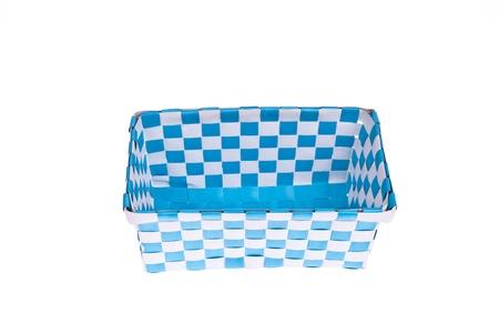 Blue plastic basket isolated on white background Stock Photo - 17605998