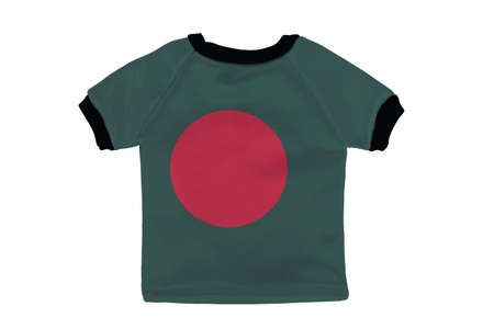 Small shirt with Bangladesh flag isolated on white background photo