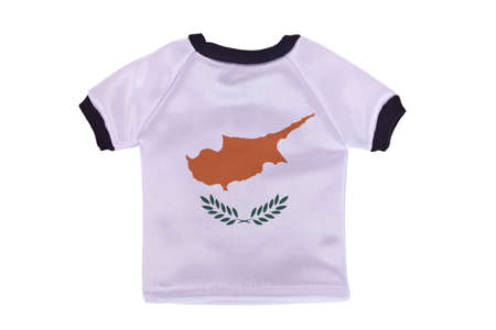 Small shirt with Cyprus flag isolated on white background photo