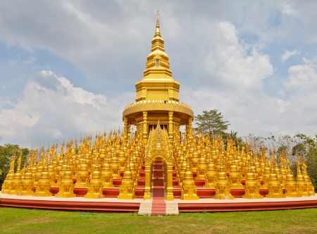 Top five hundred pagodas in Wat pasawangboon Saraburi, Thailand photo