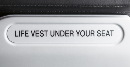 emergency vest: Life vest under your seat