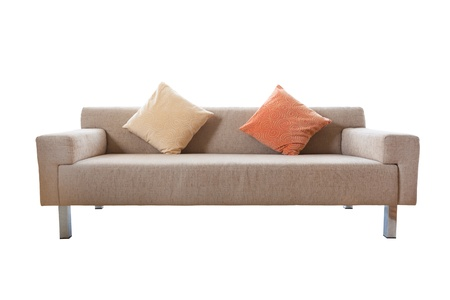 seater: Luxurious sofa isolated on white background Stock Photo