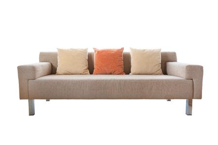 settee: Luxurious sofa isolated on white background Stock Photo