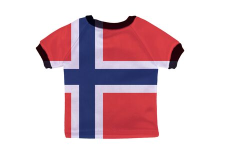 Small shirt with Norway flag isolated on white background photo