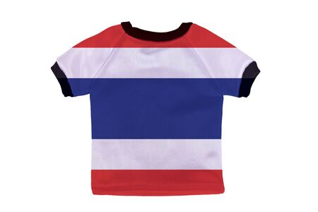 Small shirt with Thailand flag isolated on white background photo