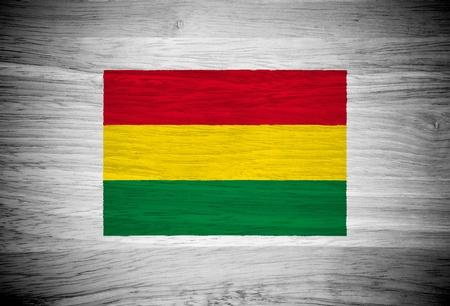 bandera bolivia: Bolivia bandera en la textura de madera