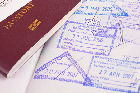 passport and immigration stamps