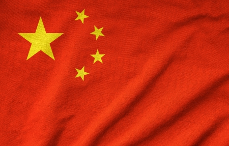 Ruffled China Flag Stock Photo - 22831878